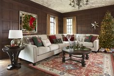 Ashley's gorgeous Kieman 3-piece sectional all ready for the Holidays!