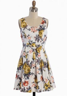 Floral Memoirs Pleated Dress