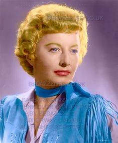 BARBARA STANWYCK TECHNICOLOR CONVERSION BY BEDAZZZLED FROM SEPIA PRINT