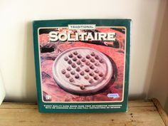 TRADITIONAL SOLITAIRE Game BOXED Unopened 1970s Retro Game Wooden Game Game for One from 6Years   Made in England  Coffee Table Decor by BigGirlSmallWorld on Etsy