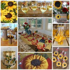 The Partiologist: Sunflower Themed Party