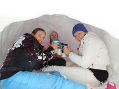 Joy Clayton, McGaheysville 	 Enjoying hot chocolate and lunch in the igloo! #WHSVsnow