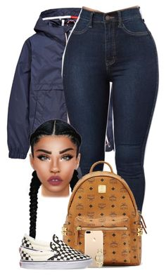 """CHILL"" by chiamaka-ikaraoha ❤ liked on Polyvore featuring Tommy Hilfiger, Lime Crime, MCM, Vans and Burberry"
