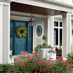 Home Design: Fresh, Bold Paint Color For Front Door Is Quick, Easy