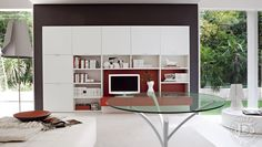 Wohnzimmereinrichtung modern  eckschrank wohnzimmer modern unlimitedschraenke eckschrank ...