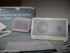 on eBay by MsFrugaLady:   RADIO SHACK Electronic TELEPHONE hearing AMPLIFIER - Phone Line Powered SYSTEM