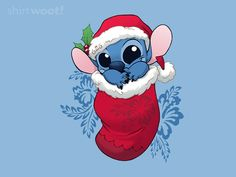 """Stocking Stuffers: Stitchy"" by DoOomcat An alien in a stocking. Inspired by Lilo & Stitch Lilo Ve Stitch, Stitch Disney, Lilo And Stitch Quotes, Disney Kunst, Arte Disney, Disney Art, Disney Pixar, Disney Dogs, Christmas Phone Wallpaper"