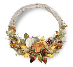 """""""Wreath For Fall"""" by signaturenails-dstanley ❤ liked on Polyvore featuring art"""