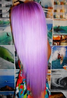 beautiful spectrum of of violet hair. I sometimes wish I hadn't cut it so I could do this