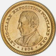 Lewis and Clark Exposition Gold Dollar 1904-1905