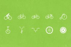 free Bike Icons by WarehouseIcons on Creative Market