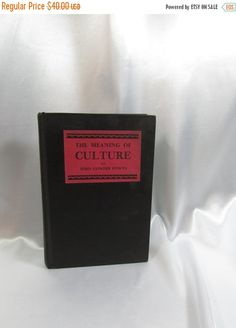 SALE The Meaning of Culture 1929 by John Cowper by BeanzVintiques