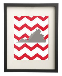 Radford University Virginia State Map 8x10 by paperfreckles, $15.00