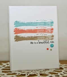 Life is a beautiful ride card.