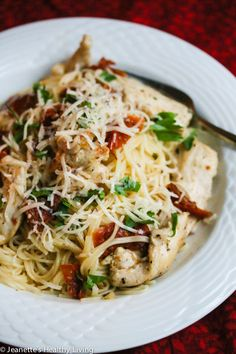 Easy Sun Dried Tomato Chicken Pasta Recipe - Jeanette's Healthy Living