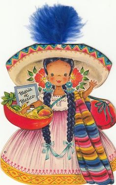 I had this oe--must have been 5 or 6 years old.  My grandmother always gave me doll cards.  I saved them and played for them forever.  I kept them through most of my adut life--but somehow only have one cared left.  D   1948 Hallmark Dolls of The Nations 4 Paper Doll Cards Mexico China France Canada | eBay