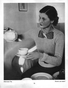 U.K. Afternoon Tea, The English at Home, 1936 // Bill Brandt