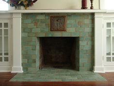 4 Optimistic Tips AND Tricks: Fireplace Built Ins Tv Placement open fireplace mezzanine.Fireplace And Tv House grey fireplace with logs.Fireplace And Mantels Ceilings. Fireplace Tile Surround, Fireplace Hearth, Fireplace Surrounds, Fireplace Design, Fireplace Tiles, Hearth Tiles, Fireplace Kitchen, Shiplap Fireplace, Concrete Fireplace