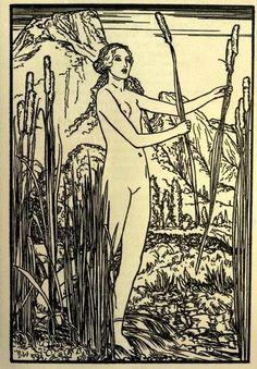 Poems by Percy Bysshe Shelley Illus. by Robert Anning Bell Art Nouveau Illustration, Vintage Illustration Art, Art Inspo, Pop Art, Medieval Art, Gravure, Vintage Art, Line Art, Art Reference