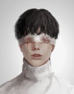 He had this blindfold around his face. The doctor said he had lost his eyesight in the left eye. The world turned cold as he heard this. Aesthetic Art, Aesthetic Anime, Character Inspiration, Character Art, Art Sketches, Art Drawings, Arte Indie, Arte Obscura, Poses References