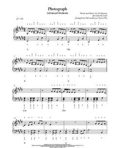 Photograph by Ed Sheeran Piano Sheet Music | Advanced Level