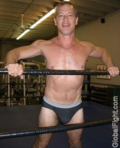 a gay wrestling ring man