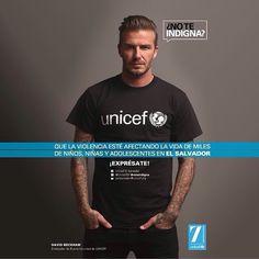 UNICEF Ambassador David Beckham #davidbeckham #unicef @unicefsv سفير يونيسف ديويد بكهام