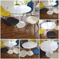 Tulip table + eames eiffel chairs = perfect! Love!