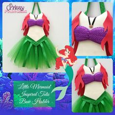 Little Mermaid tutu bow holder #ariel #disney