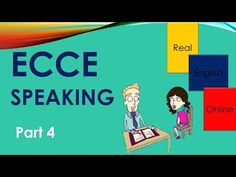 ECCE Speaking Part 4 with TIPS -Michigan - YouTube Michigan, English, Teaching, Education, Tips, Youtube, English Language, Onderwijs, Learning