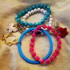 Loved bracelets! Love Bracelets, Beaded Bracelets, Jewelry, Jewlery, Bijoux, Pearl Bracelets, Schmuck, Jewerly, Jewels