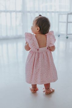 Eloise Pinafore Dress - the cutest first birthday outfit for little girls // shop at cuteheads.com #littlegirloutfits