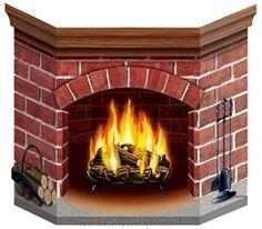 Christmas Brick Fireplace Stand-Up Cardboard Amazing Winter Festive Decoration Fake Fireplace, Christmas Fireplace, Decorative Fireplace, Fireplace Wall, Fireplace Ideas, Corner Fireplaces, Fireplace Design, 3d Christmas, Christmas Decorations
