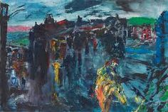 """Jack Butler Yeats (Irish, """"A Horseman Enters a Town at Night,"""" Oil on canvas. Large Canvas, Oil On Canvas, Jack B, Short Stories For Kids, Irish Culture, Irish Art, Contemporary Paintings, Butler, Sculpture Art"""