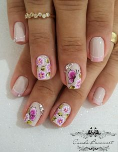 55 Modelos de unhas coloridas decoradas Cute Spring Nails, Summer Nails, Kindergarten Colors, Crochet Videos, Flower Nails, Manicure And Pedicure, Fun Nails, Nail Art Designs, Sewing Crafts