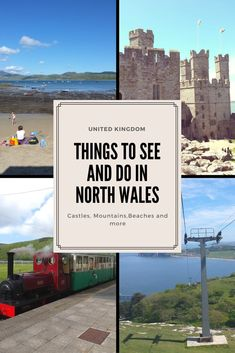 Have you been to North Wales. A land of Castles, beaches and national Parks. Hreen hills, sandy beaches and seaside towns await North Wales attractions Europe Travel Guide, Europe Destinations, Travel Guides, Travel Uk, Cardiff, Travel With Kids, Family Travel, Family Trips, Castles In Wales