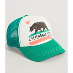 2f32661f89f Billabong California Love Trucker Hat (61 BRL) ❤ liked on Polyvore featuring  accessories