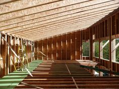Image result for architectural timber frame with flat roof