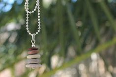 cairn pendant cairn necklace beach stone pendant from Coast