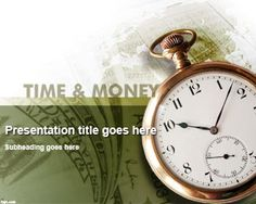 Time & Money PowerPoint Template Free Template for PowerPoint presentations #PowerPoint