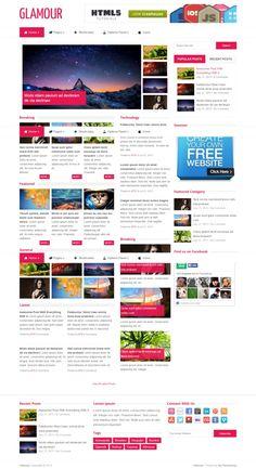 Glamour #WP #Theme  #WPTheme #WebDesign #Responsive #Magazine #personal | #WPThemeHouse