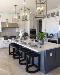 Adorable White Kitchen Design Ideas ~ Go. - Adorable White Kitchen Design Ideas ~ Go… Adorable White Kitchen Design Ideas ~ Gorgeous House Home Decor Kitchen, New Kitchen, Home Kitchens, Kitchen Ideas, Kitchen Island, 10x10 Kitchen, Kitchen Cabinets, Kitchen Taps, Awesome Kitchen