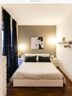 Genial Love For Either Upstairs Bedroom   Curtains, Including The Way Theyu0026apos;re  Hung, Dresser/nightstand/bed Combo, Lights. Small Bedroom   Less Is