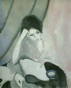 Marie Laurencin:  La liseuse (The Reader) 1913 e-pinned by: http://sunnydaypublishing.com/books/
