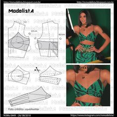 Wonderful Photo of Crop Top Sewing Pattern Lingerie Patterns, Dress Sewing Patterns, Clothing Patterns, Fashion Sewing, Diy Fashion, Fashion Outfits, Tops Diy, Diy Clothes Design, Costura Fashion