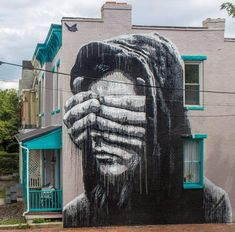 Te fermer les yeux n'est pas la solution ! / Street art. / Richmond, Virginia, USA. / By Nils Westergard.