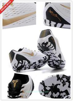 Nike Kobe IX EM White   Gold 653972-701