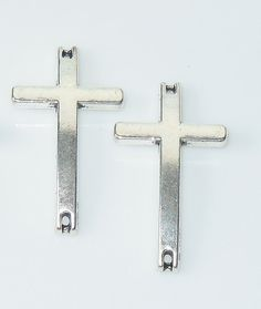 Silver Plated 25mm Sideways Cross Connector by BestBuyDesigns