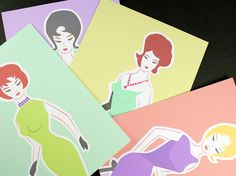 Mad Men inspired bridal shower invites - squarepaisleydesign on etsy. $25.00