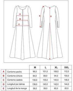 Vestido de dama medieval s.XIII: Reproducción histórica de vestidos, capuchas y túnicas de la Edad Media en Castel-Bayart.com